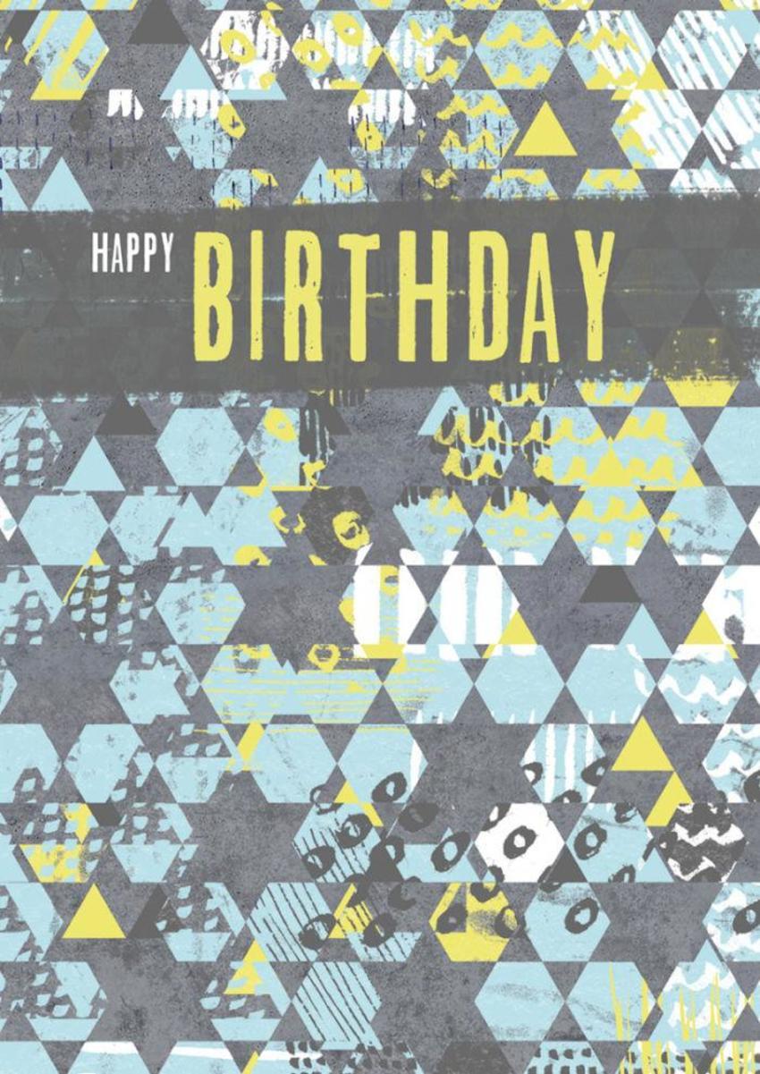 RP Male Birthday Geometric Pattern