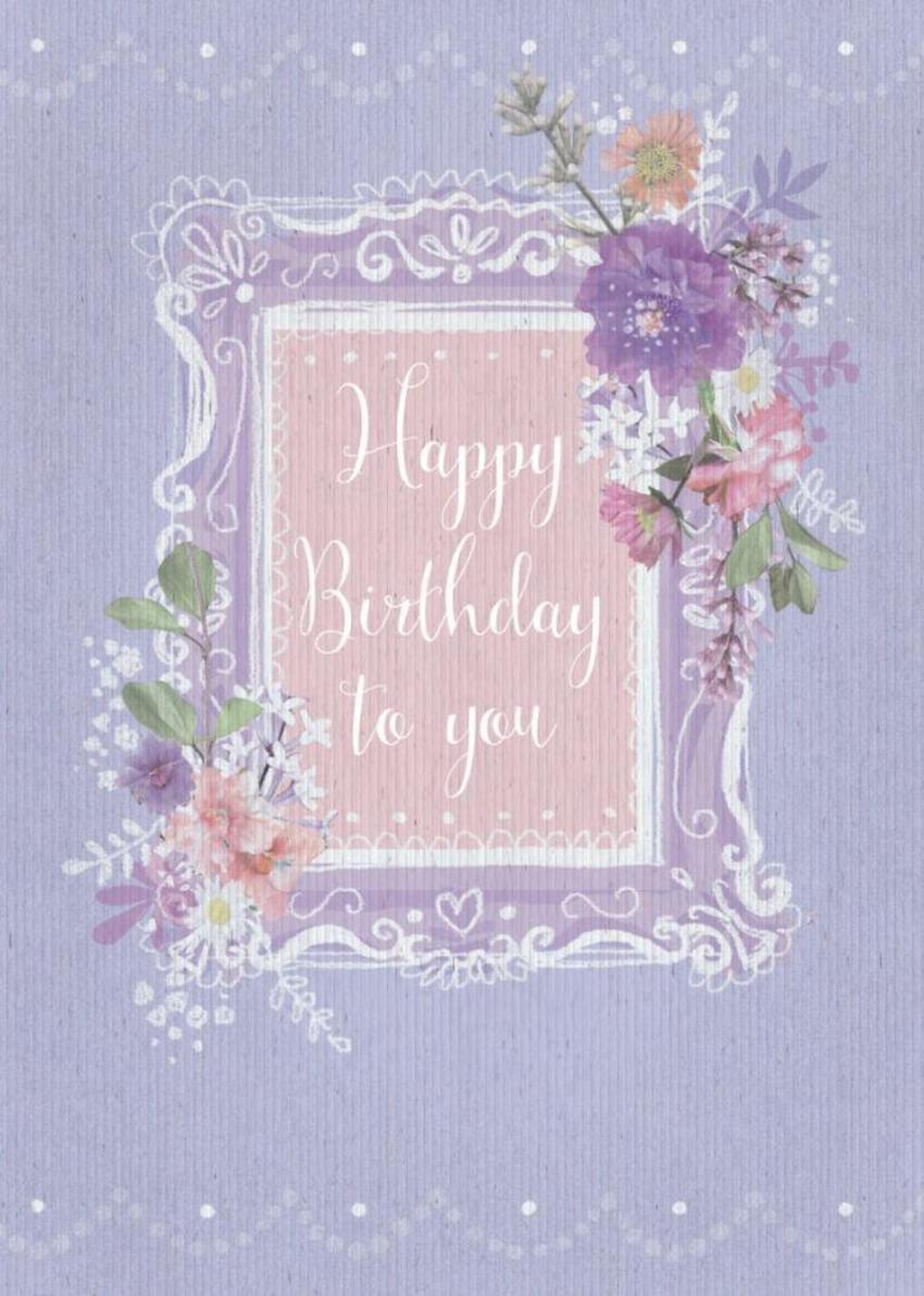 Floral Frame Birthday
