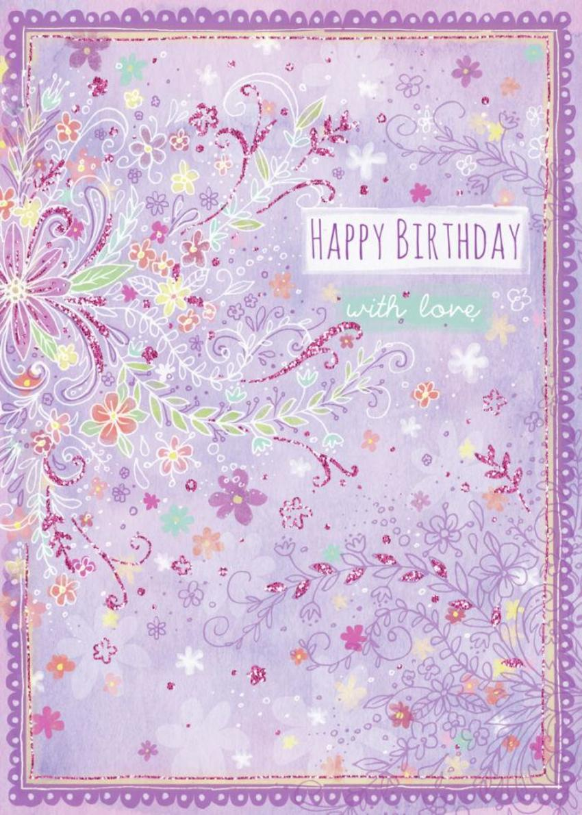 Floral Type Birthday