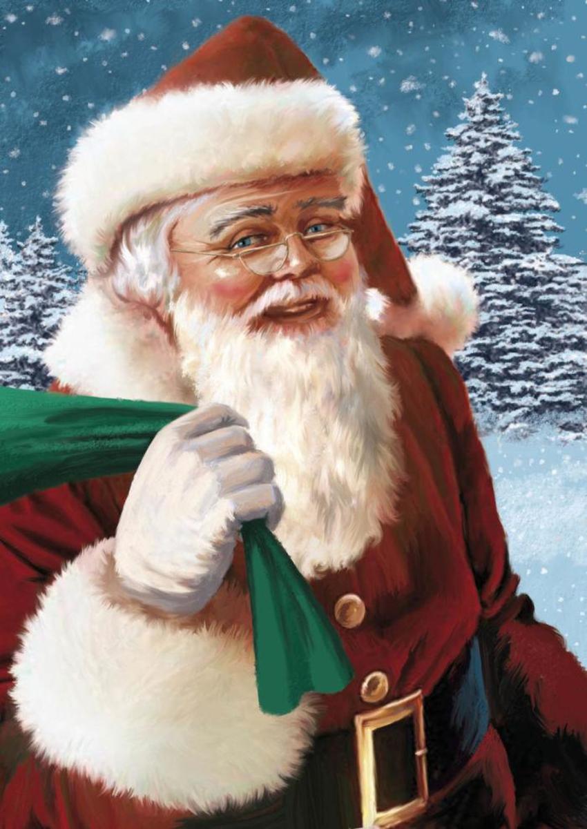 Santa With Trees Copy