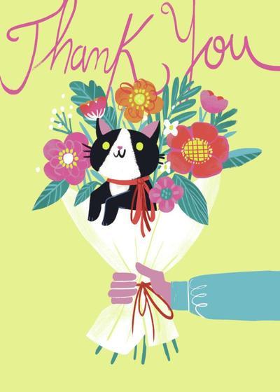 cat-bouquet-thanks-flowers