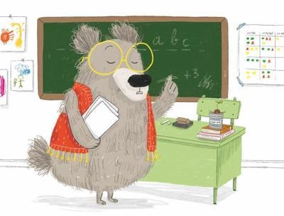 already-sold-bear-toys-funny-animal-school-classroom