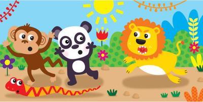 jennie-bradley-monkey-snake-panda-lion