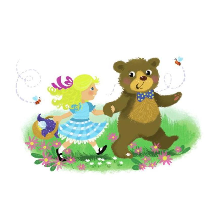 Melanie Mitchell Sample Girl And Bear-2