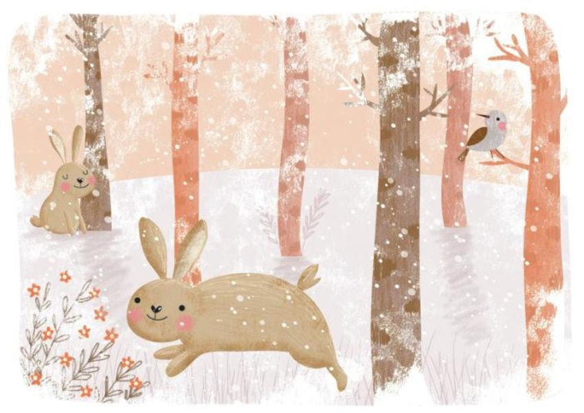 Rabbit In Snow Forest - GM