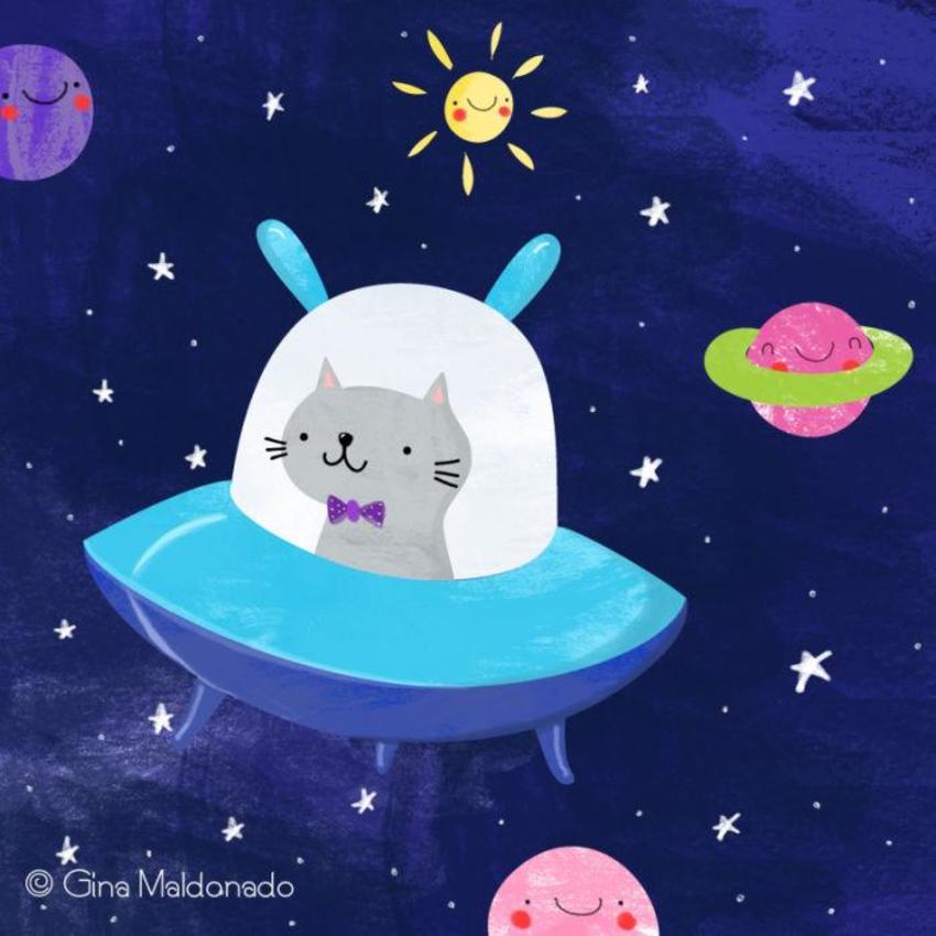 Cat In Spaceship - GM