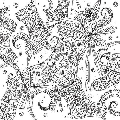 stockings-christmas-adult-colouring-line-work