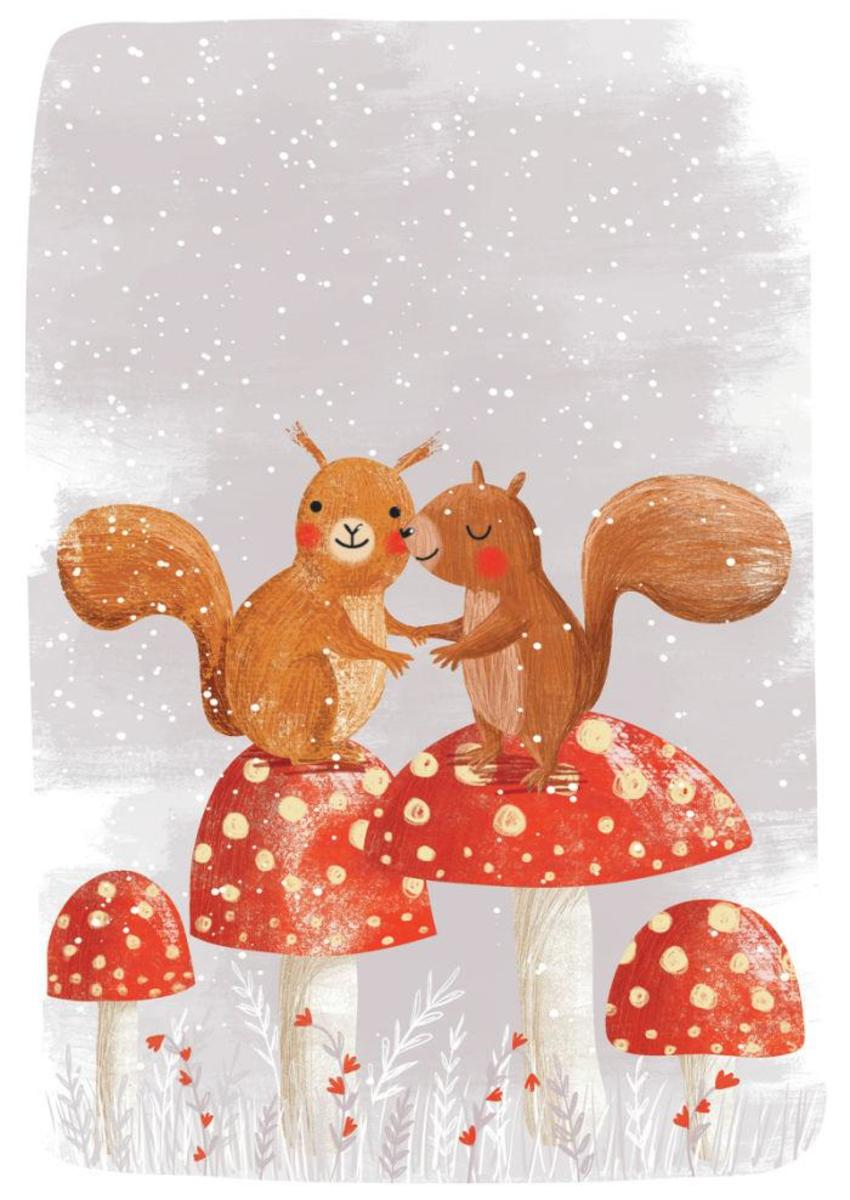 Squirrels On Mushrooms - GM