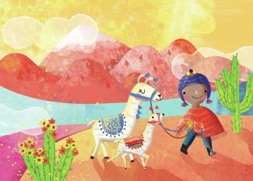 Walking Llamas