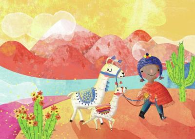 walking-llamas
