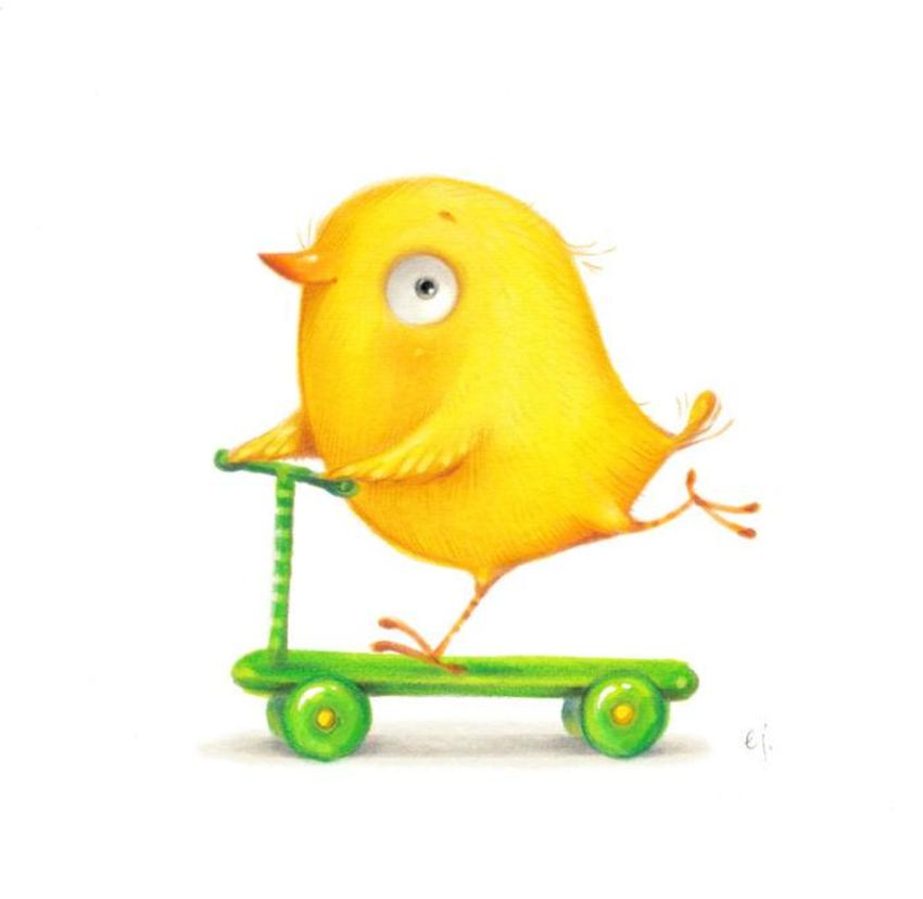 Bird On A Scooter