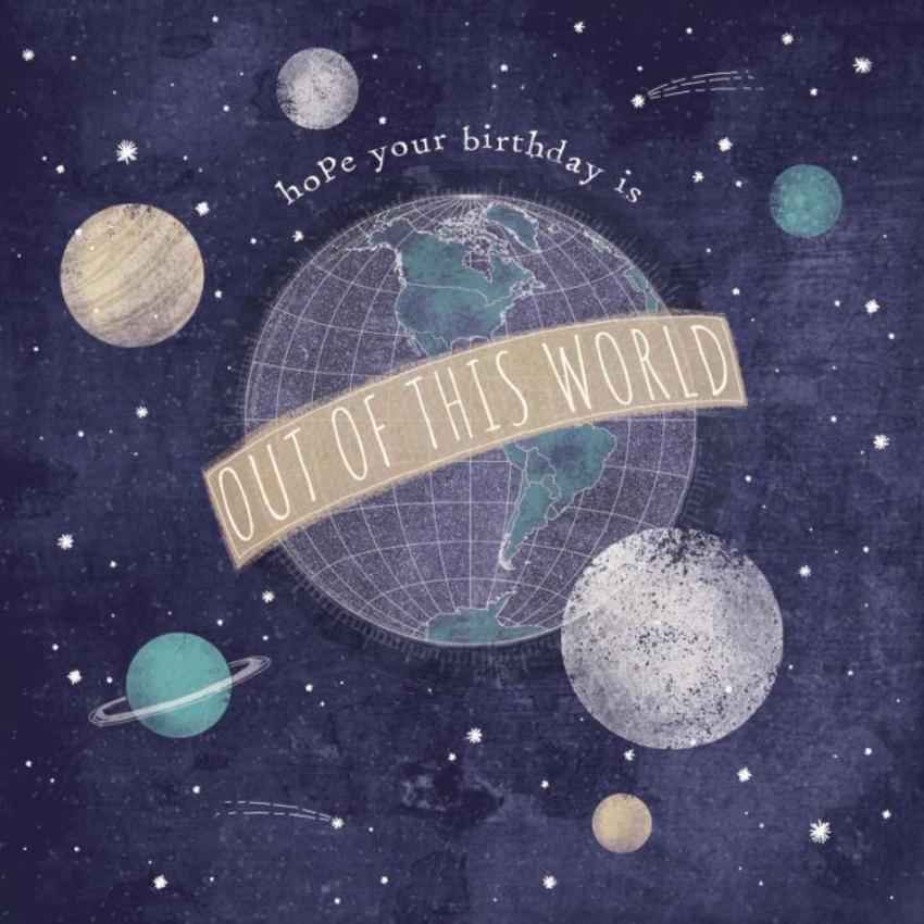 Birthday Space Stars Planets