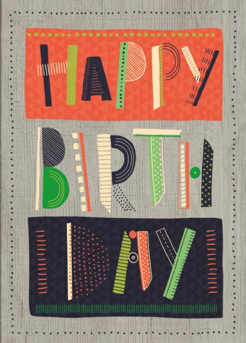 RP Graphic Typography Birthday