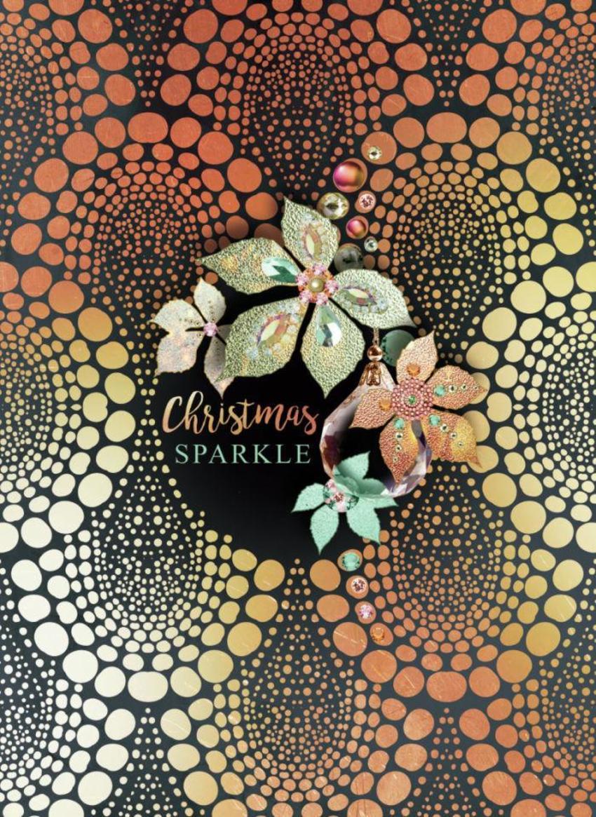 LSK_Christmas Rose Gold Metallic Leaves