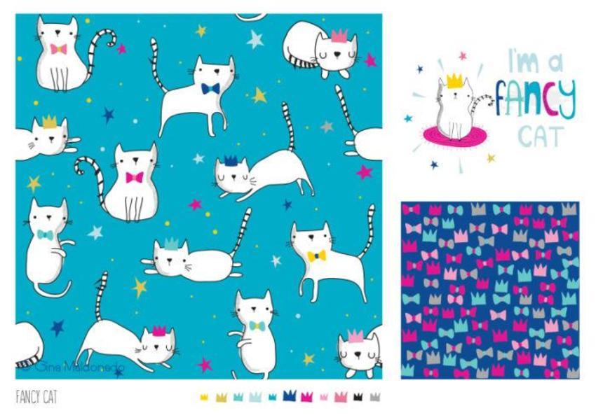 Fancy Cats Pattern - GM