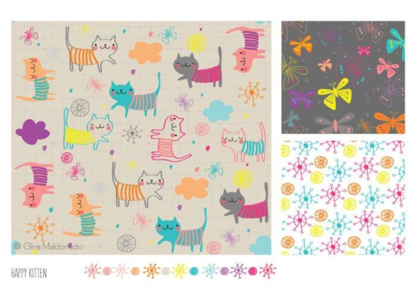 Happy Kitten Pattern - GM