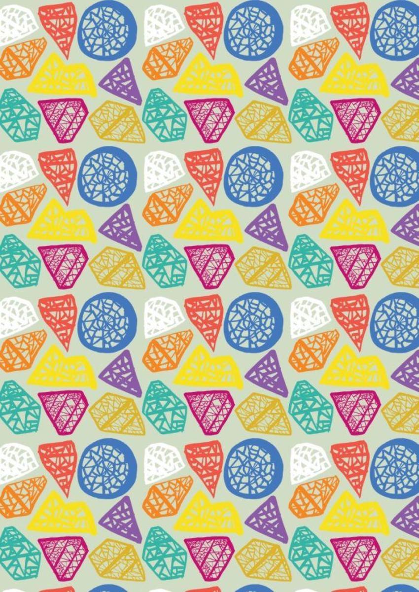 Rainbow Diamond Pattern