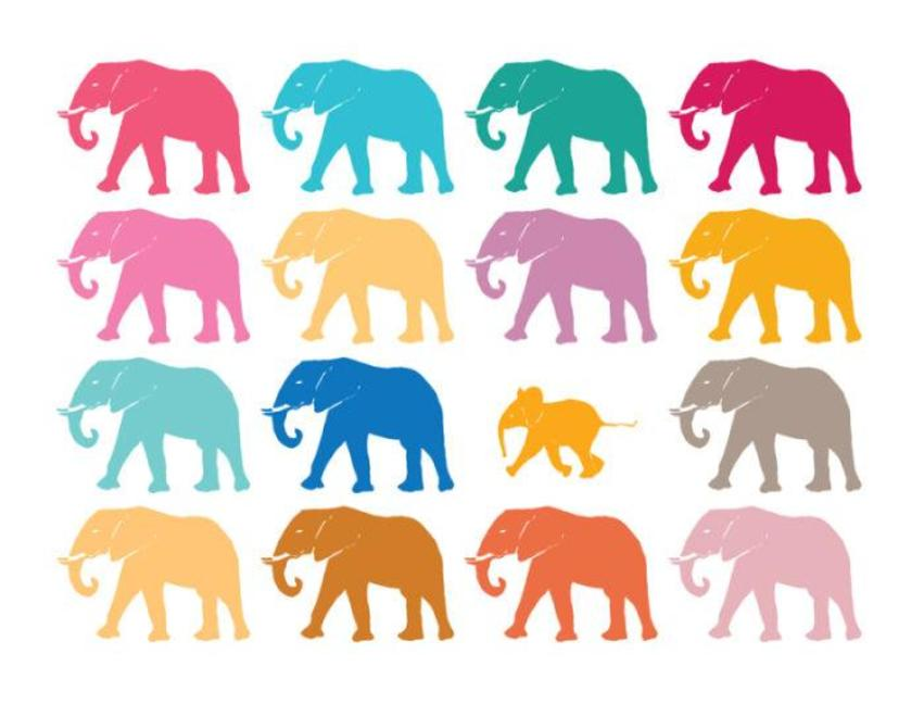 Riviera Colour Elephants