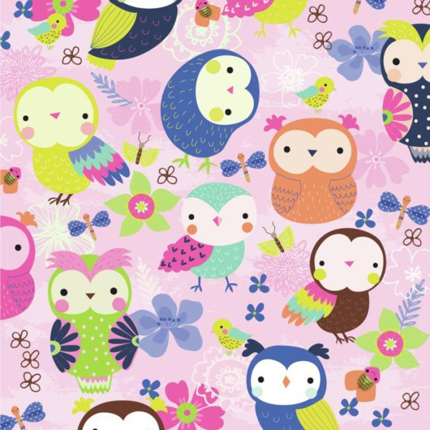 Owls And Flowers - GM_Owls