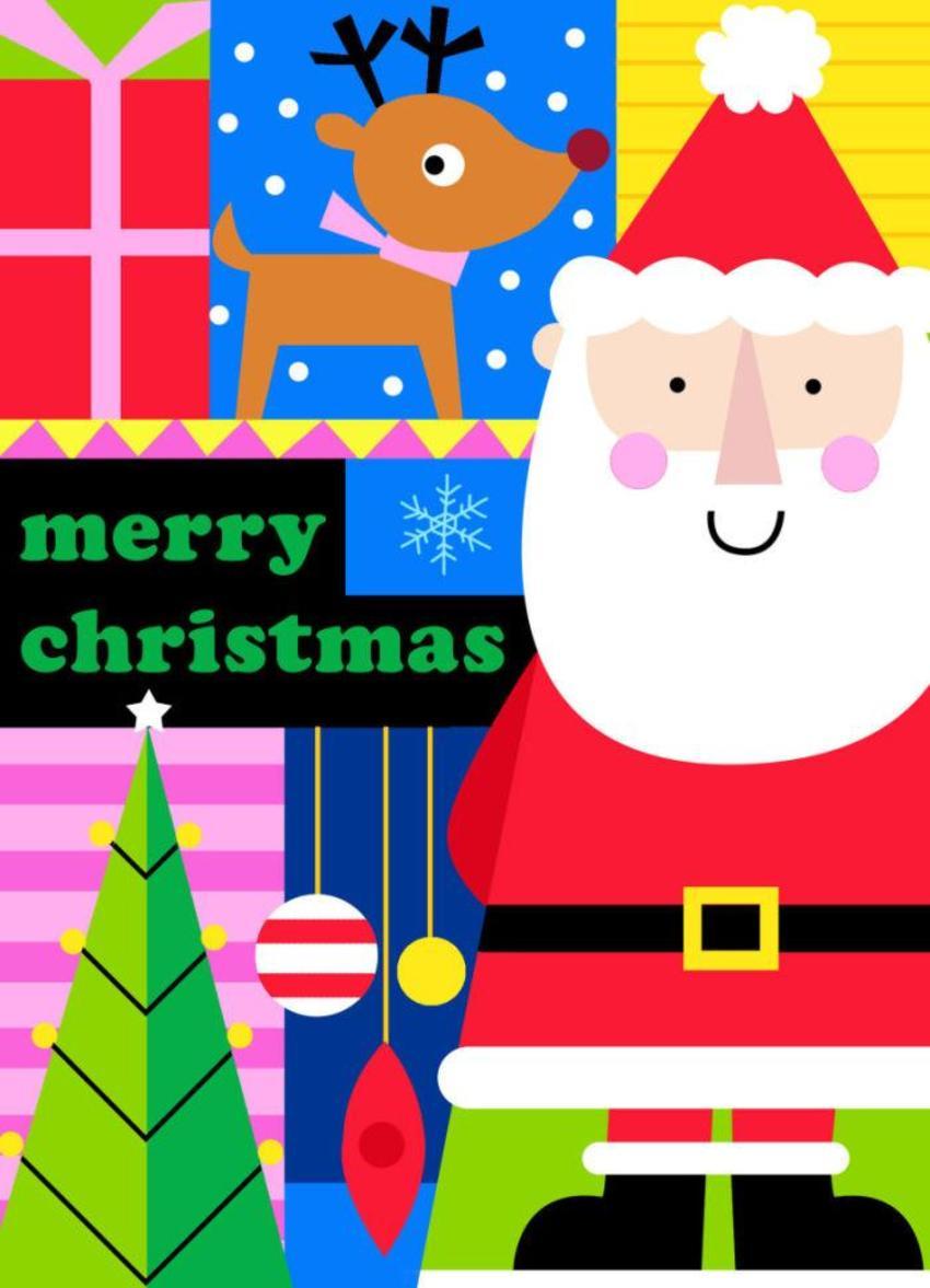Hw Santa Reindeer Xmas