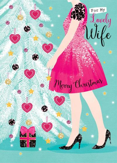 christmas-tree-with-lady-hanging-baubles-wife