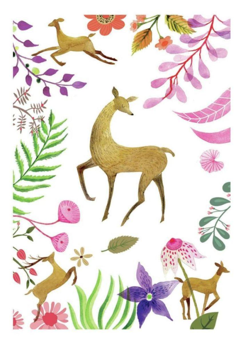 Watercolour Deer