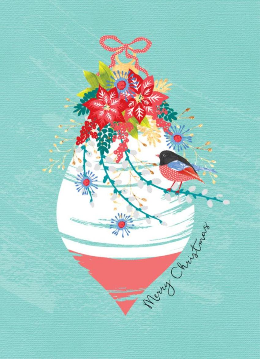 Christmas-bauble-decoration-with-flowers-and-red-robin-5x7