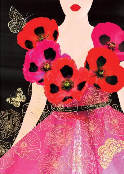 female-birthday-girlfriend-wife-mothers-day-sister-friend-anniversary-fashion-illustration-lady-in-poppy-dress