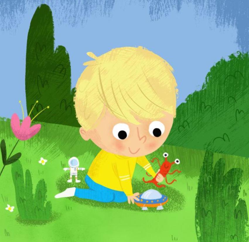 Boy Garden Space Toys