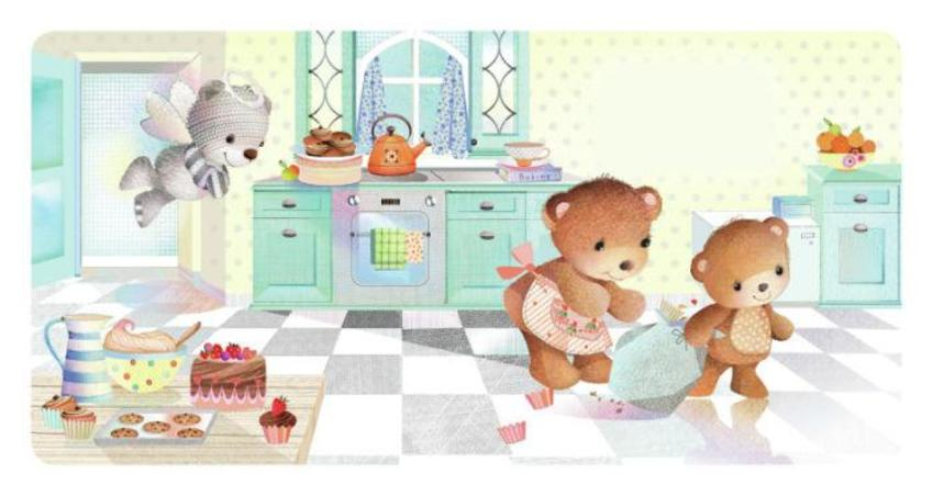 Bears In Kitchen