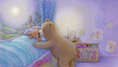 mummy-bear-and-baby-bear-bedtime-gail-yerrill-portfolio