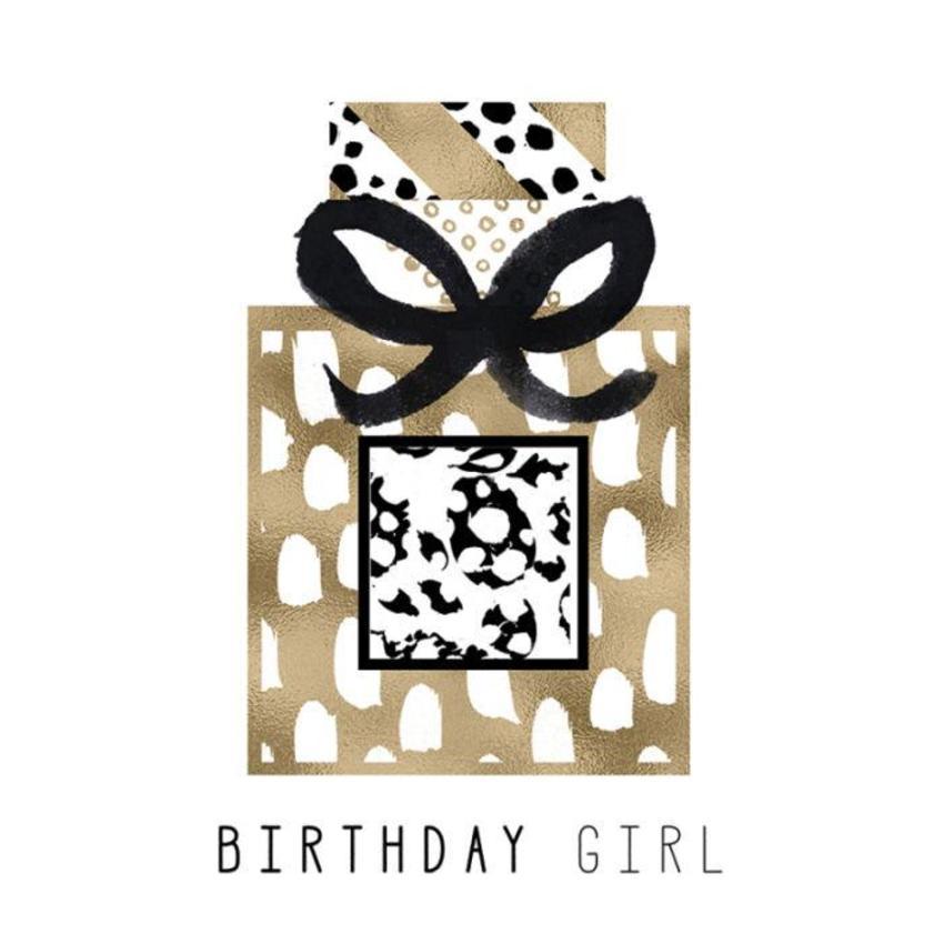 RP Female Birthday Black And Gold Perfume