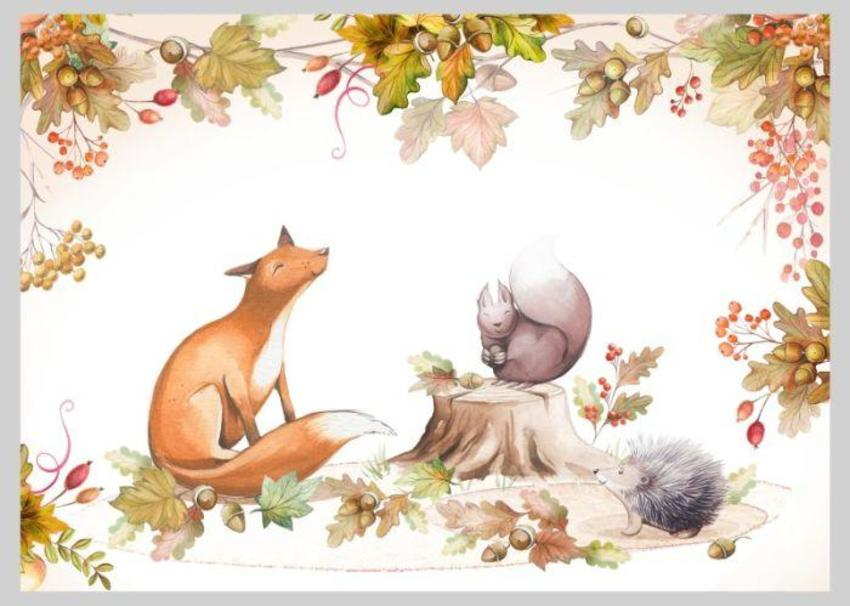 Autumnal Fall Thanksgiving Animals