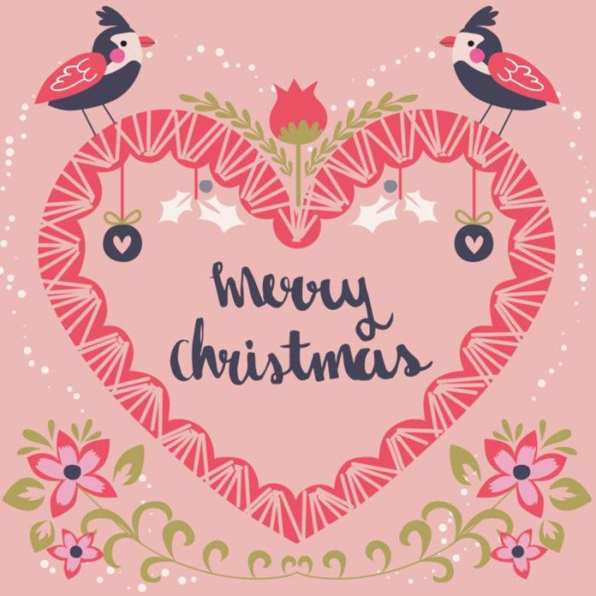 Christmas Card - GM_Heart Birds