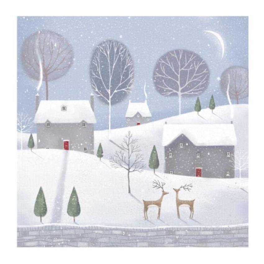 Winter Scene Reindeer