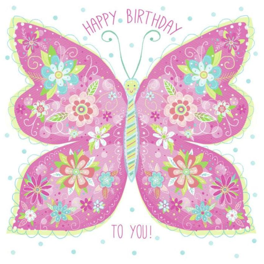 Birthday Floral Butterfly