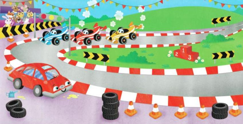 RACE TRACK AND CARS