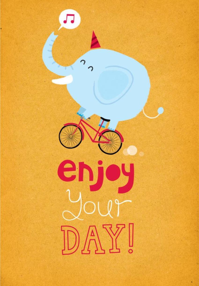 Elephant On A Bike