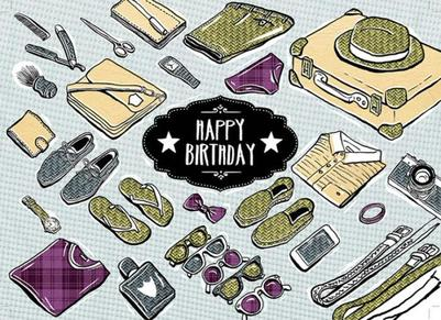 mhc-male-happy-birthday-icons-luggage-shoes-bowtie-shirt-shaving-bag-camera-sunglasses-watches-1