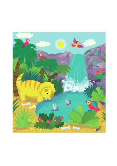 dino-at-waterfall-melanie-mitchell