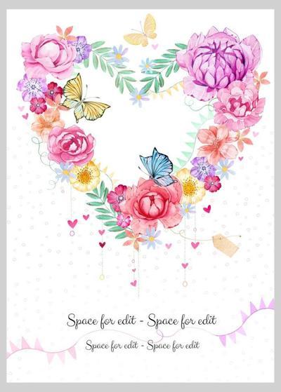 heart-shape-flower-wreath-butterfly