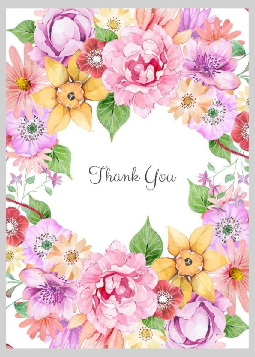 Floral Thank You Wreath