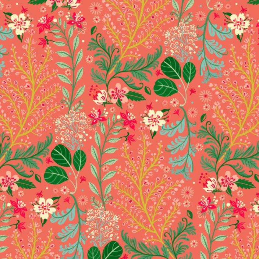 Floral Pattern Pink1