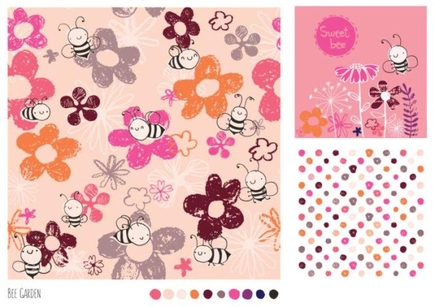 Bee Garden Pattern - GM