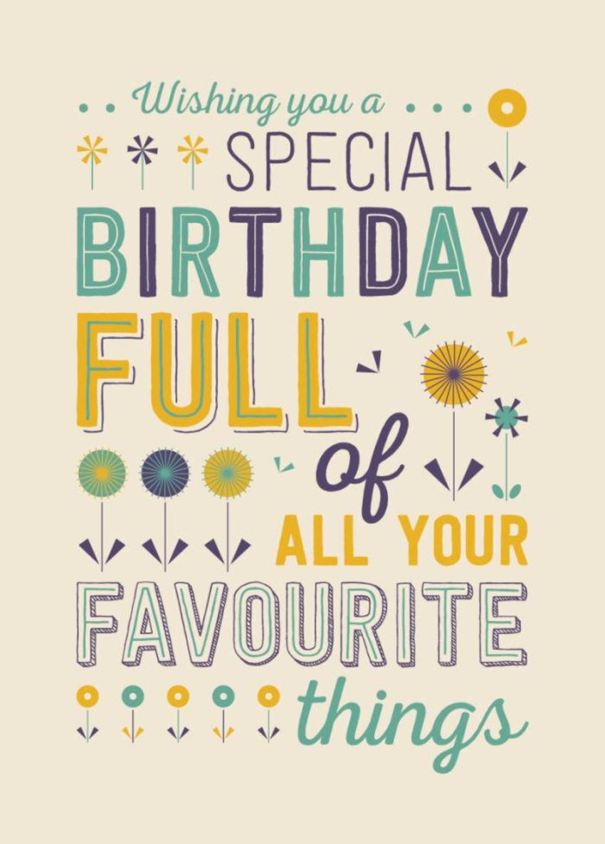 RP Typography Birthday Favourite Things