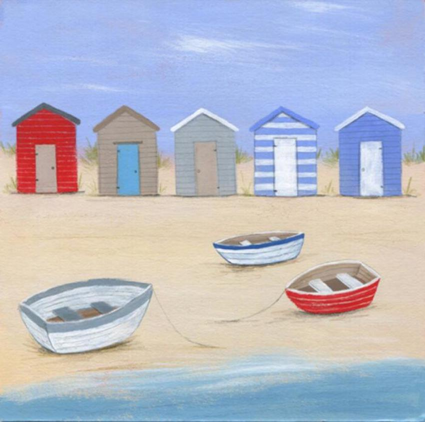 Beach Huts Boats