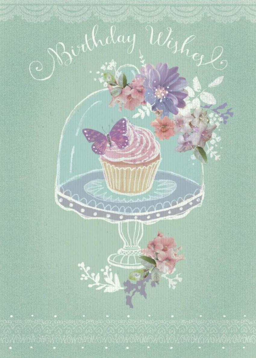 Cupcake Floral Birthday