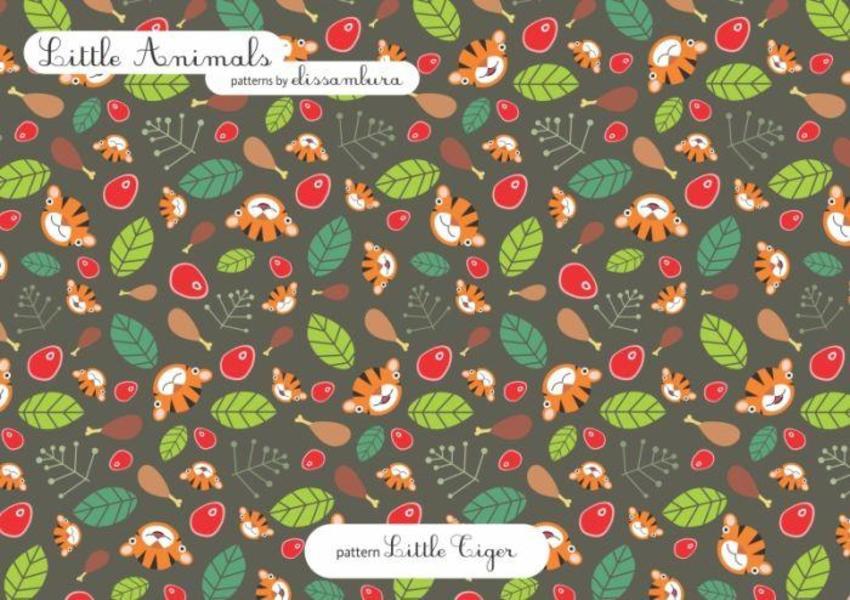 Little Animals Patterns Tiger  03