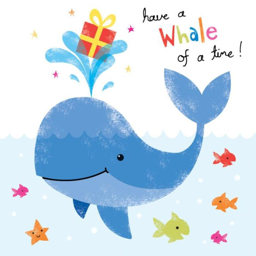 Whale With Present