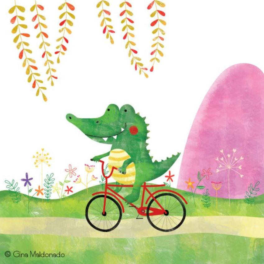 Crocodile Riding Bicycle - GM